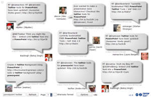 Twitter + Powerpoint = Twittertools
